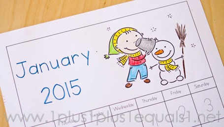Printable Calendar for Kids