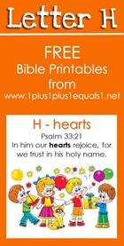 RLRS Letter H Psalm 33 Bible Verse Printables
