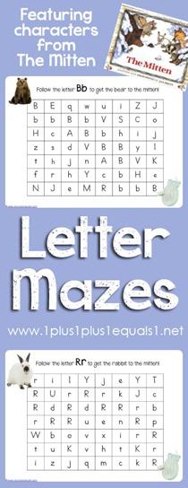 The Mitten Letter Mazes