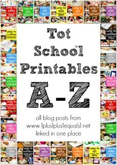 Tot School Printables A-Z