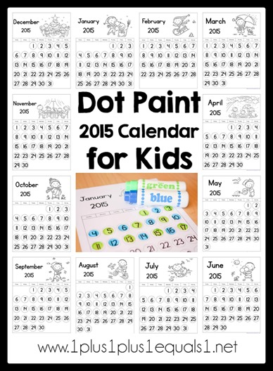 Dot Paint 2015 Calendar for Kids