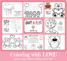 Just Color Valentines Day Love