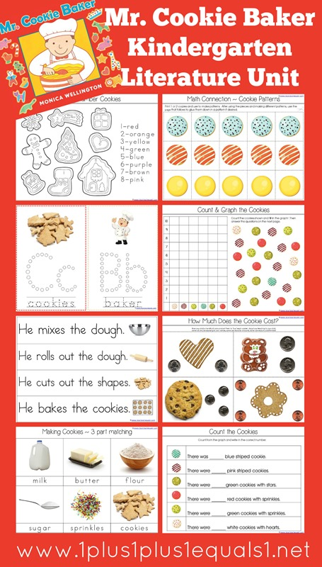 Mr. Cookie Baker Kindergarten Literature Unit Printables