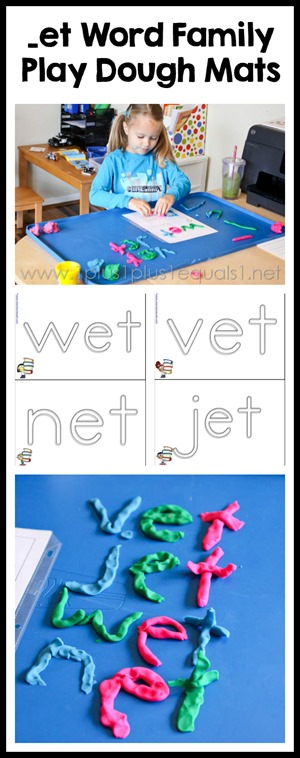 et Word Family Play Dough Mats