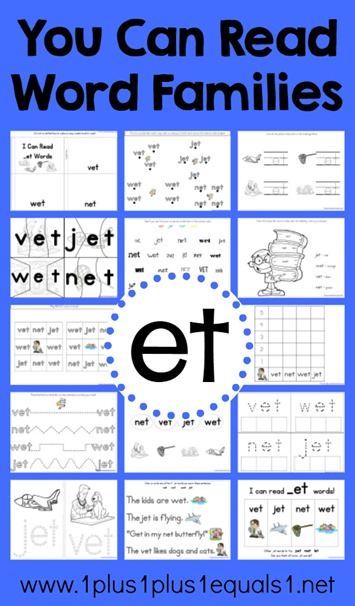 et Word Family Printables