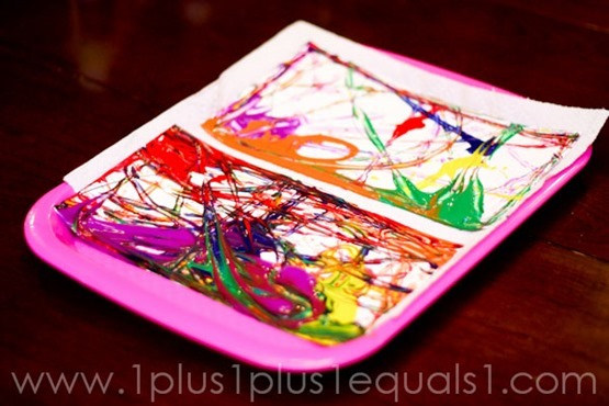Marble Painted Rainbow Craft