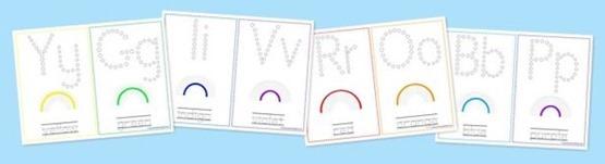 Rainbow Color Printables