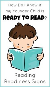 Reading Readiness Signs for Young Children[5]