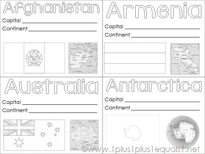 picture about Printable Passports for Kids identified as Planet Geography Region Printables - 1+1+1\u003d1