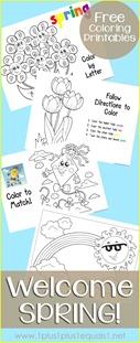 Spring Fun Coloring Printables
