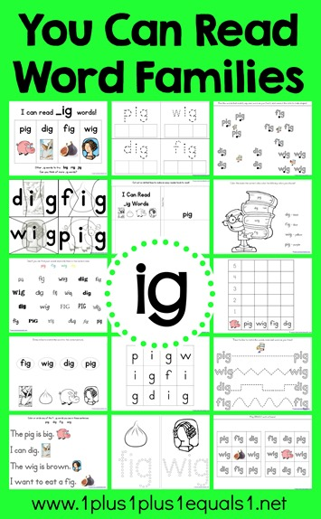 ig Word Family Printables