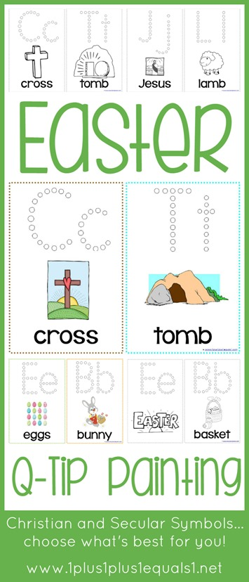 Easter Q Tip Painting Printables