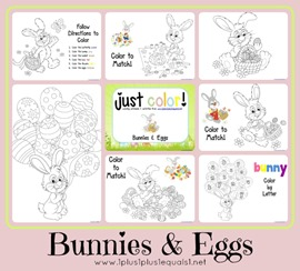 Just Color Eggs and Bunnies