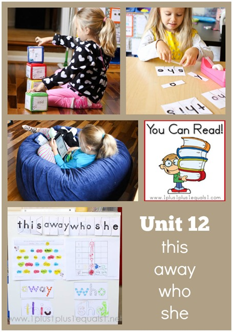 You Can Read Sight Words Unit 12