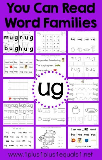 ug Word Family Printables