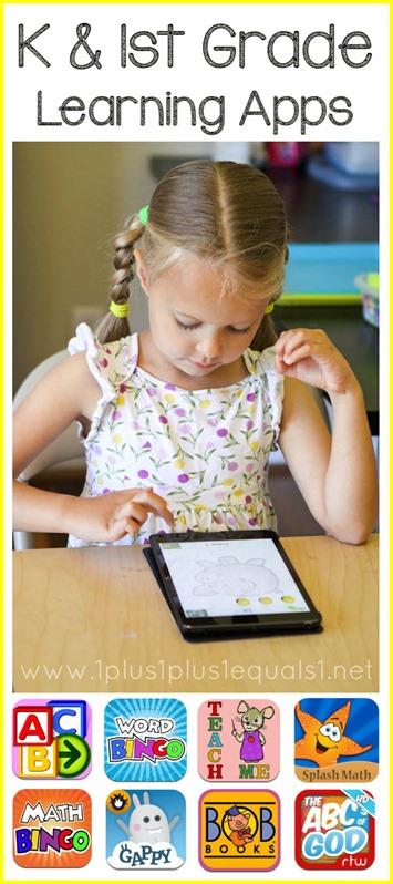 1st Grade and Kindergarten Learning Apps