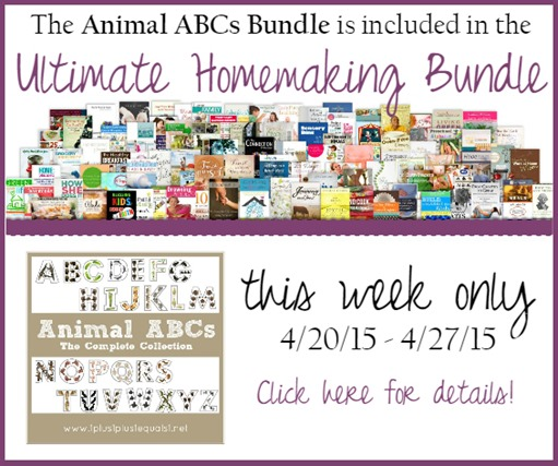 Animal ABC in Ultimate Homemaking Bundle 2015