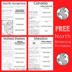 North America Printables