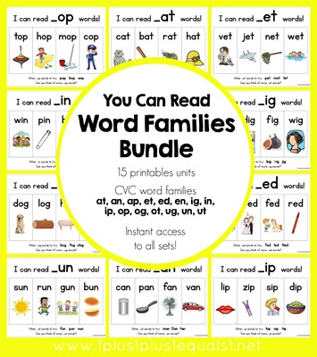 You Can Read Word Families Bundle
