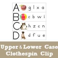 Clothespin Clip ABCs