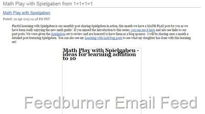 Feedburner Email Feed