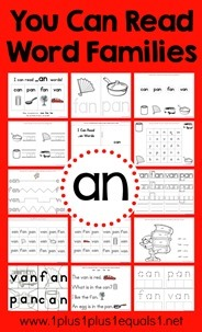 an Word Family Printables