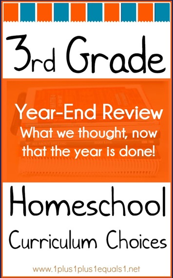 3rd Grade Homeschool Curriculum Choices Year-End Review