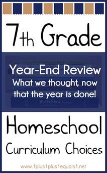 7th Grade Homeschool Curriculum Choices Year-End Review