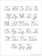 Alphabet Handwriting Charts
