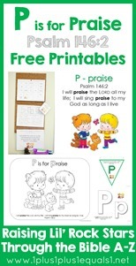 P is for Praise Bible Verse Printables Psalm 1462[4]
