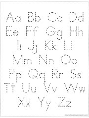 Each page shown above is also included with a dotted font for tracing.