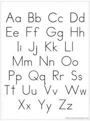 Alphabet Chart Printable