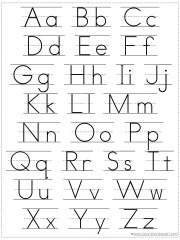Adorable image within alphabet chart printable