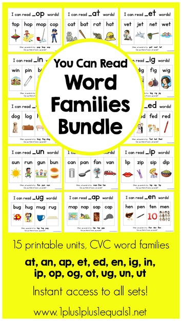 you can read word families bundle 1 1 1 1