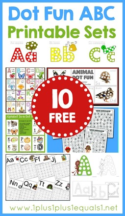 10 Free Dot Fun Alphabet Printable Sets