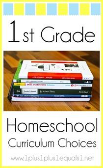 1st Grade Homeschool Curriculum Choices