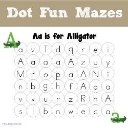 ABC Dot Fun Mazes
