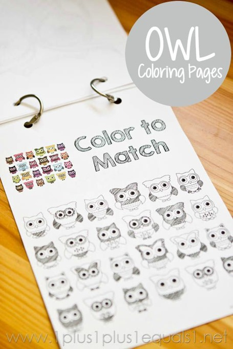 Free OWL Coloring Printables