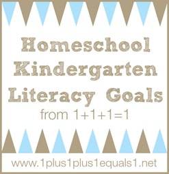 Homeschool Kindergarten Literacy Goals