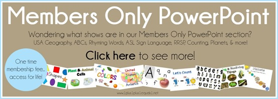 Members Only PowerPoint Shows from 1 1 1=1