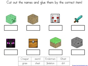 Minecraft Printables on writing printable kindergarten worksheets