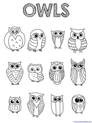 Owl Coloring Pages Gorgeous Just Color Owl Coloring Printables  1111