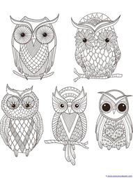Just Color! Owl Coloring Printables - 1+1+1=1