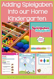 Spielgaben in Homeschool Kindergarten