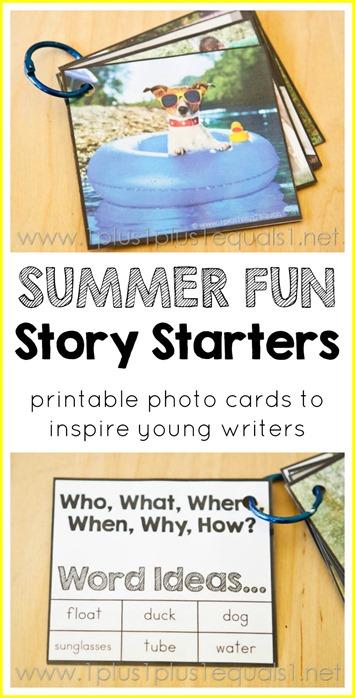 Summer Fun Story Starters Printables