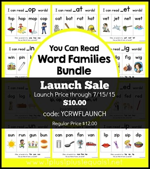 You Can Read Word Families Bundle Launch Sale