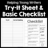 Young Writer Printables