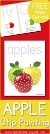 Apple Q tipPainting Printables
