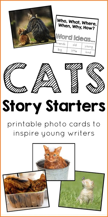 Cats Story Starters Printable Photo Cards