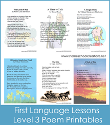 First Language Lessons 3 Poem Printables